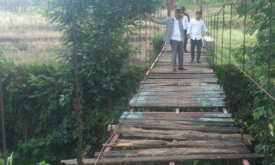 Jembatan Gantung Penghubung Tiga Kampung di Maja Butuh Perbaikan