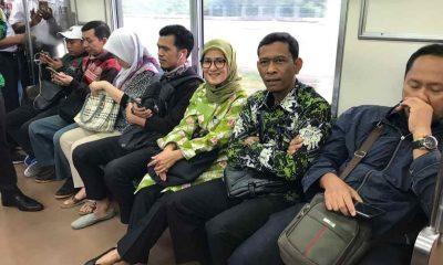 Bupati Lebak Iti Octavia Jayabaya bersama Jajaran di Commuterline