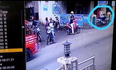 Pencurian motor di depan kantor Desa Citeras Lebak