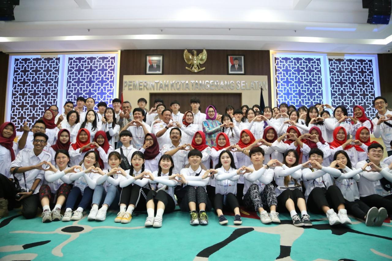 Palang Merah Remaja Korsel Bawa Misi Perdamaian Dunia ke Tangsel