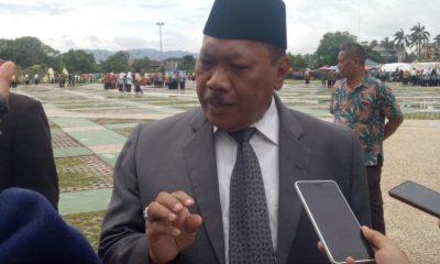 Plt. Wali Kota Cilegon usai memimpin apel memperingati Hari Amal Bhakti Kementerian Agama ke-73