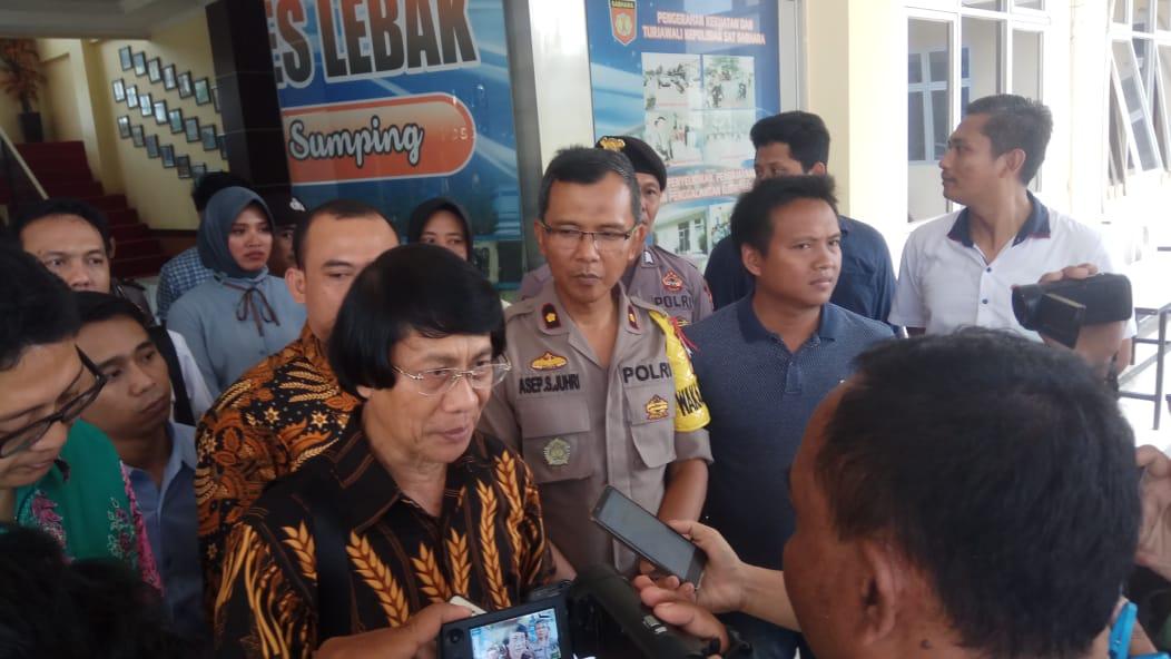 Ketua Umum Lembaga Perlindungan Anak Indonesia (LPAI) Seto Mulyadi di Polres Lebak