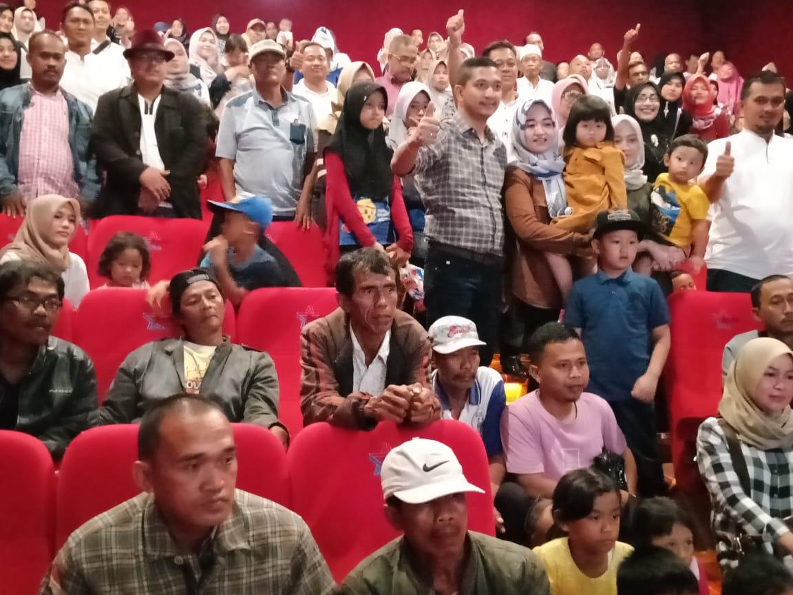 Gapensi Kabupaten Lebak Gelar Nonton Bareng Warga di Bioskop Rabinza