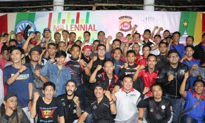 Dirlantas Polda Banten bersama komunitas pengendara roda dua dan empat di Banten