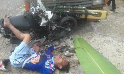 Honda Beat Dihantam Truk di Jalan Raya Labuan-Pandeglang, Komarudin Meregang Nyawa