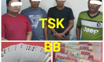 Empat Pria di Kronjo ditangkap saat asyik berjudi