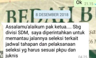 Percakapan WA komisioner KPU Banten
