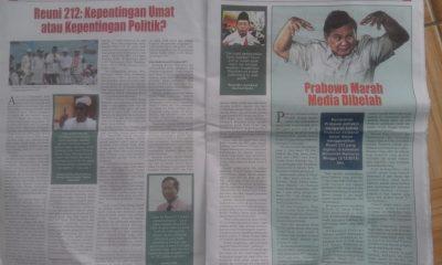 Tabloid Indonesia Barokah yang Diamankan di Pandeglang