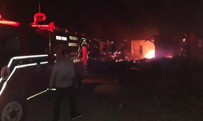 Dua Cottage di Hotel Mutiara Carita Ludes Terbakar