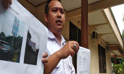 Koordinator Tampung Padi Ferry Renaldy Laporkan Baliho Gubernur Banten