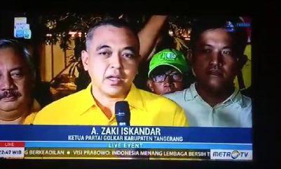 Ketua Golkar Kabupaten Tangerang Jadi komentator Debat presiden