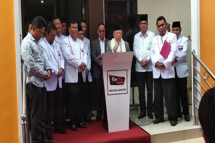 Ma'ruf Amin Hadiri Deklarasi Barisan Nusantara