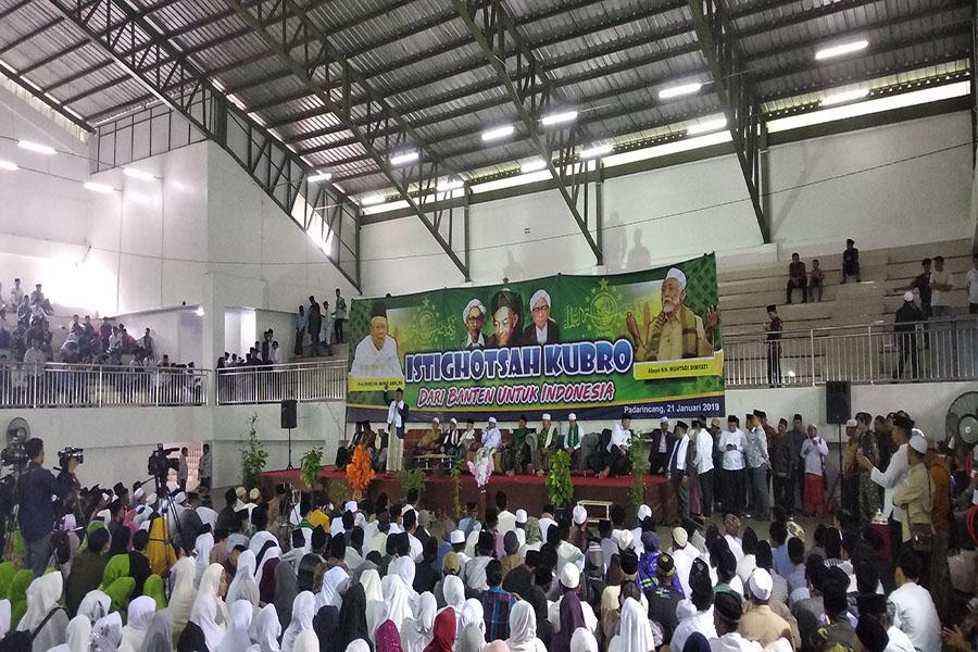 Ma'ruf Amin berkampanye di hadapan warga Padarincang