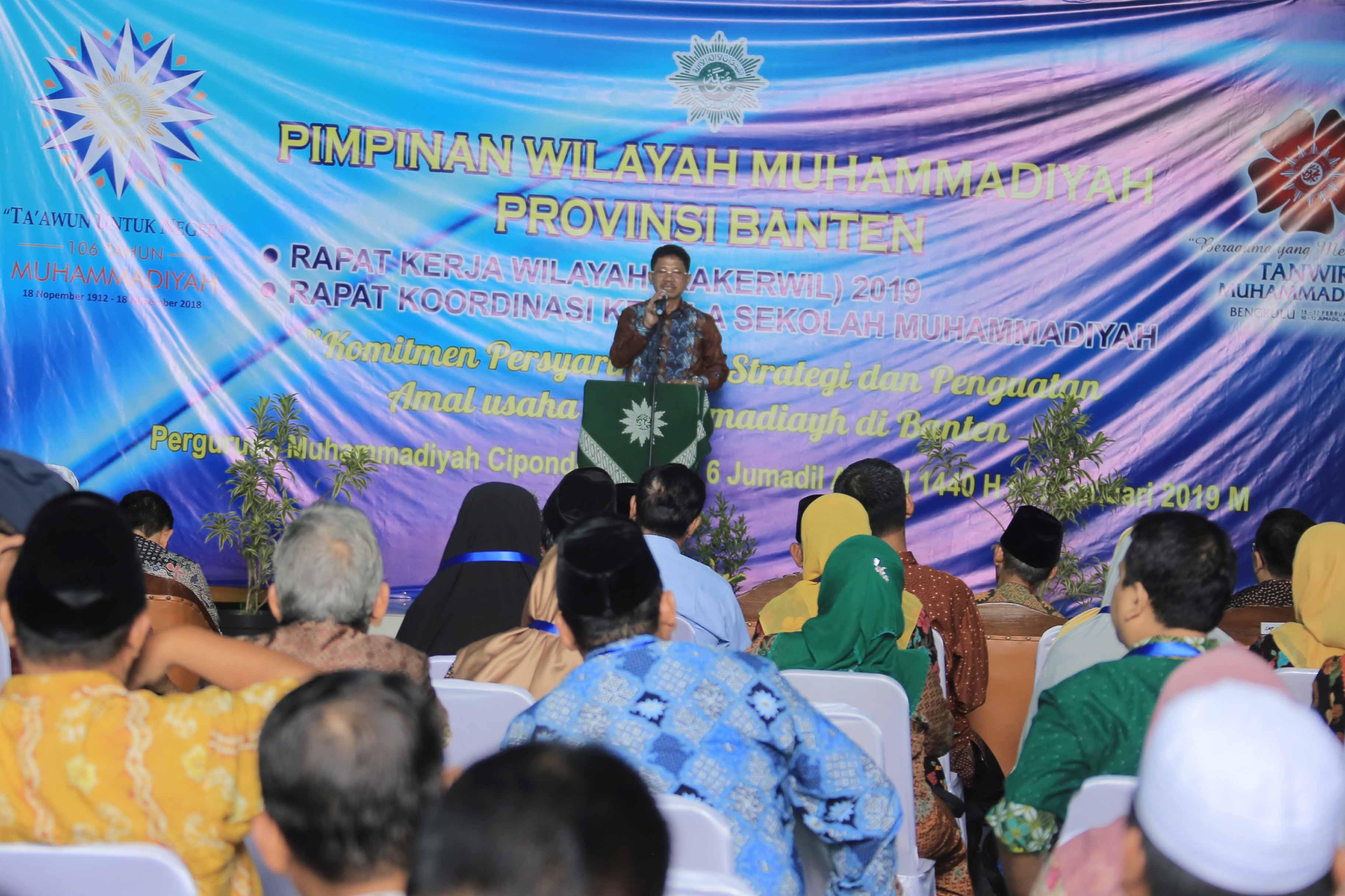 Sachrudin Hadiri Rakerwil Muhammadiyah Banten