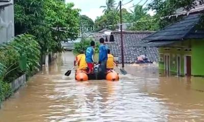 Banjir Setinggi 3 Meter Kembali Rendam Ratusan Rumah Warga Desa Teluk Kecamatan Labuan