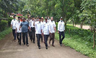 wali kota serang kunjung lokasi longsor TPSA Cilowong