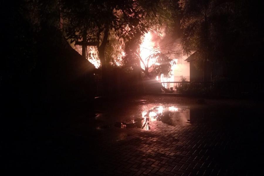 Kontrakan di dekat Lapas Wanita Terbakar