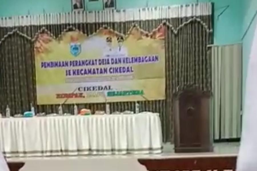 Acara pembinaan perangkat desa dan kelembagaan se-Kecamatan Cikedal