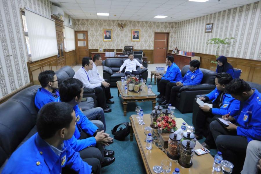 Audiensi Sachrudin dengan KNPI Kota Tangerang