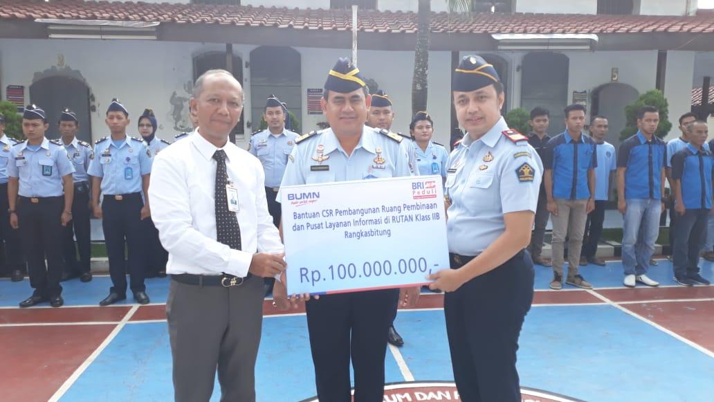 Rutan Kelas II B Rangkasbitung dapat dana CSR dari BRI