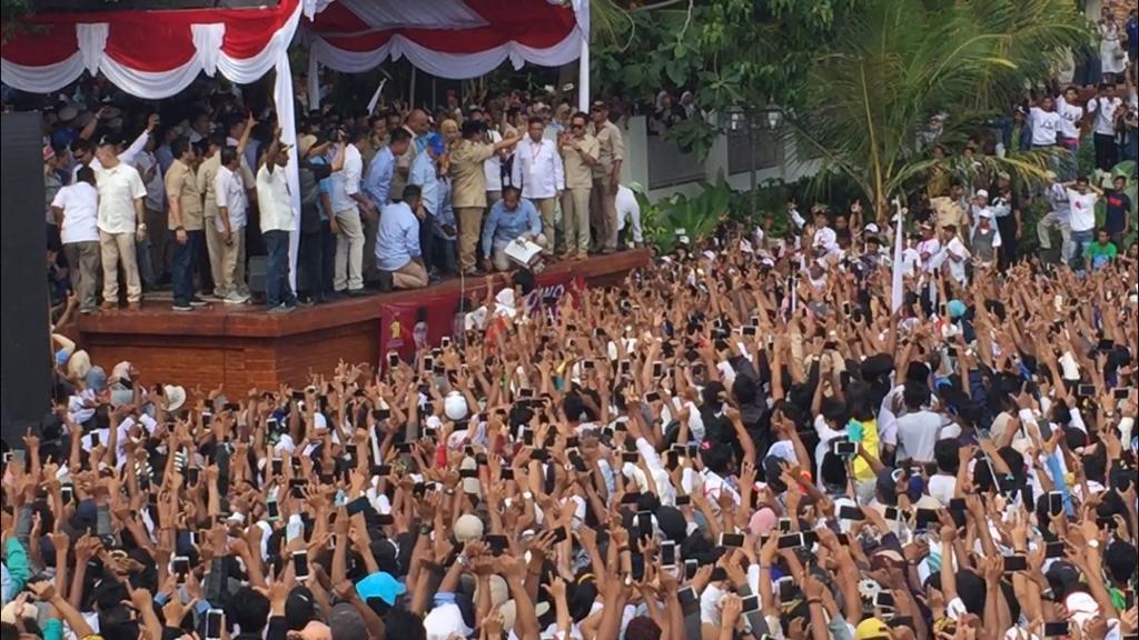 Kunjungan Prabowo di Rumah Aspirasi, Ciwaru, Kota Serang, Banten
