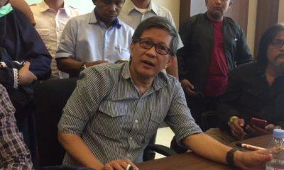 Rocky Gerung seusai menjadi pembicara di acara diskusi di Kota Serang.