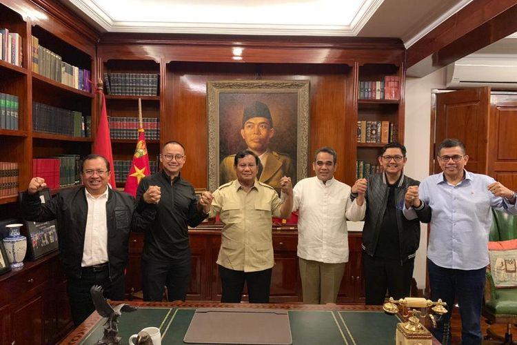 Prabowo dan sekjen parpol koalisi