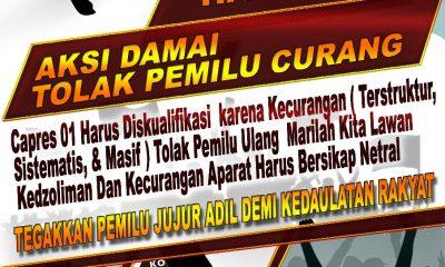 Poster seruan aksi umat Islam Banten