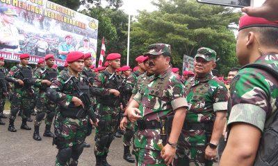 Panglima TNI di Markas Kopassus