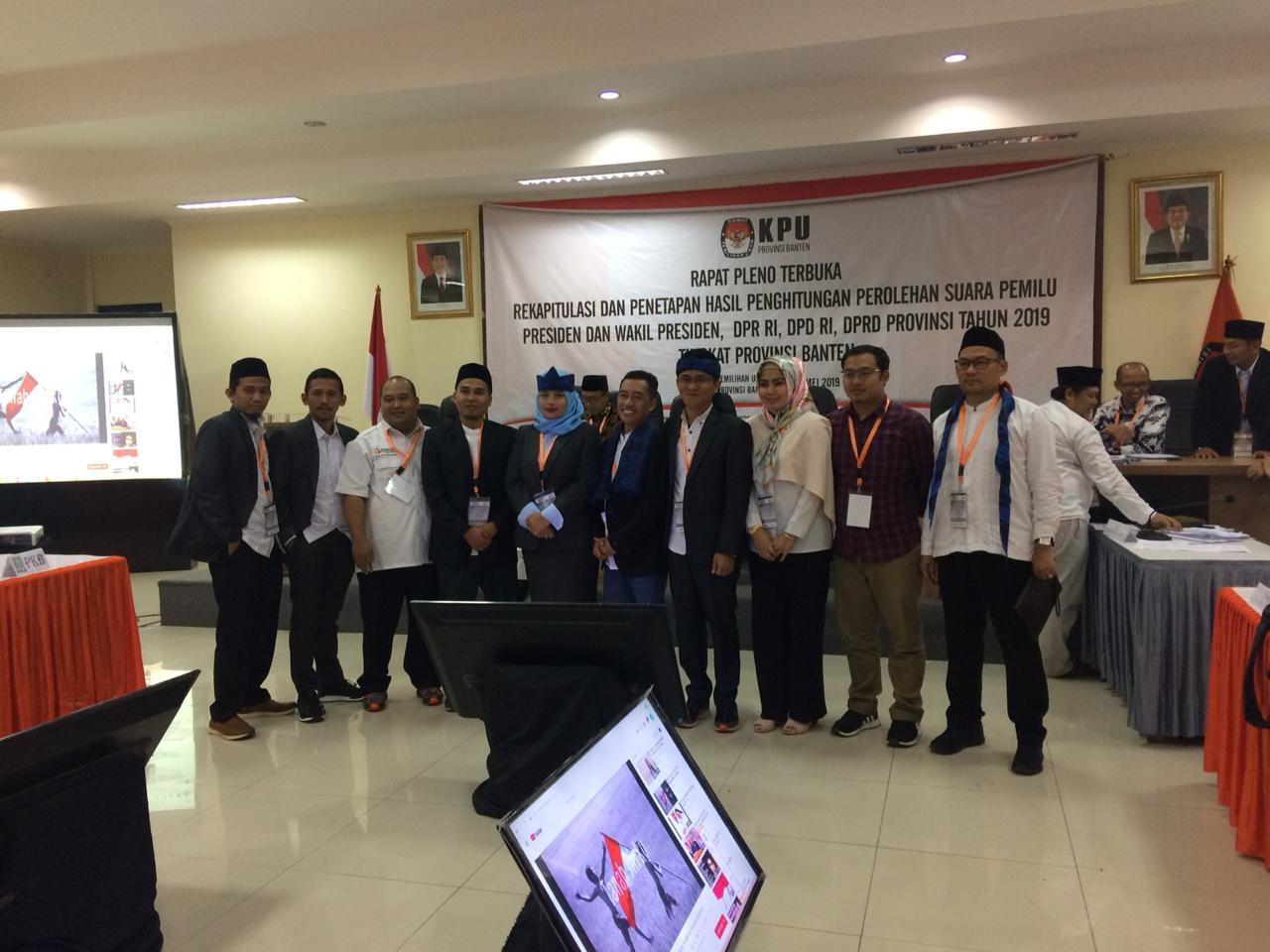 Pleno rekapitulasi pilpres KPU Banten
