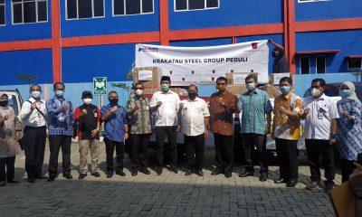Bantuan untuk pencegahan penularan Covid-19 dari dari PT. Krakatau Steel dan PT. Indo Raya Tenaga kepada Pemkot Cilegon