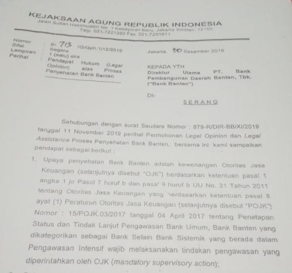Soal Kondisi Bank Banten; Wagub Sebut Tak Punya Partner Strategis, Gubernur dan Komisaris Kompak Bilang Ada Rush Money