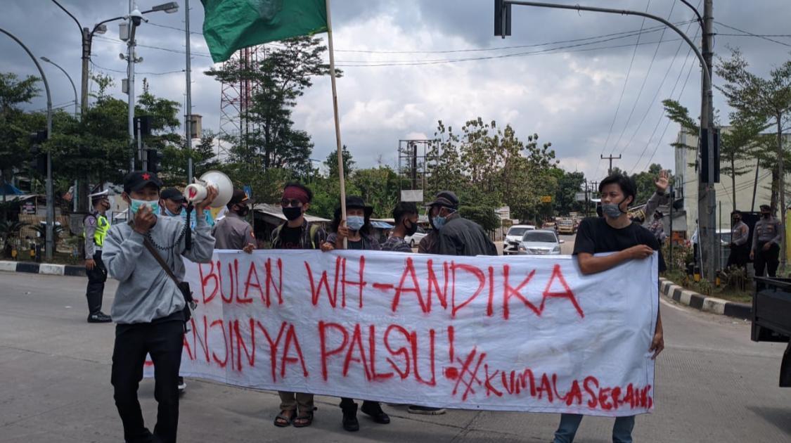 Deretan Raport Merah WH-Andika yang Hampir Empat Tahun Pimpin Banten versi Keluarga Mahasiswa Lebak