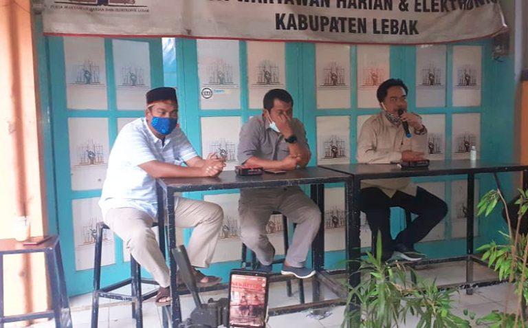 Lewat Ngariung Ide, Pokja Wartawan Harian dan Elektronik Bahas Nasib Visi Bupati Lebak