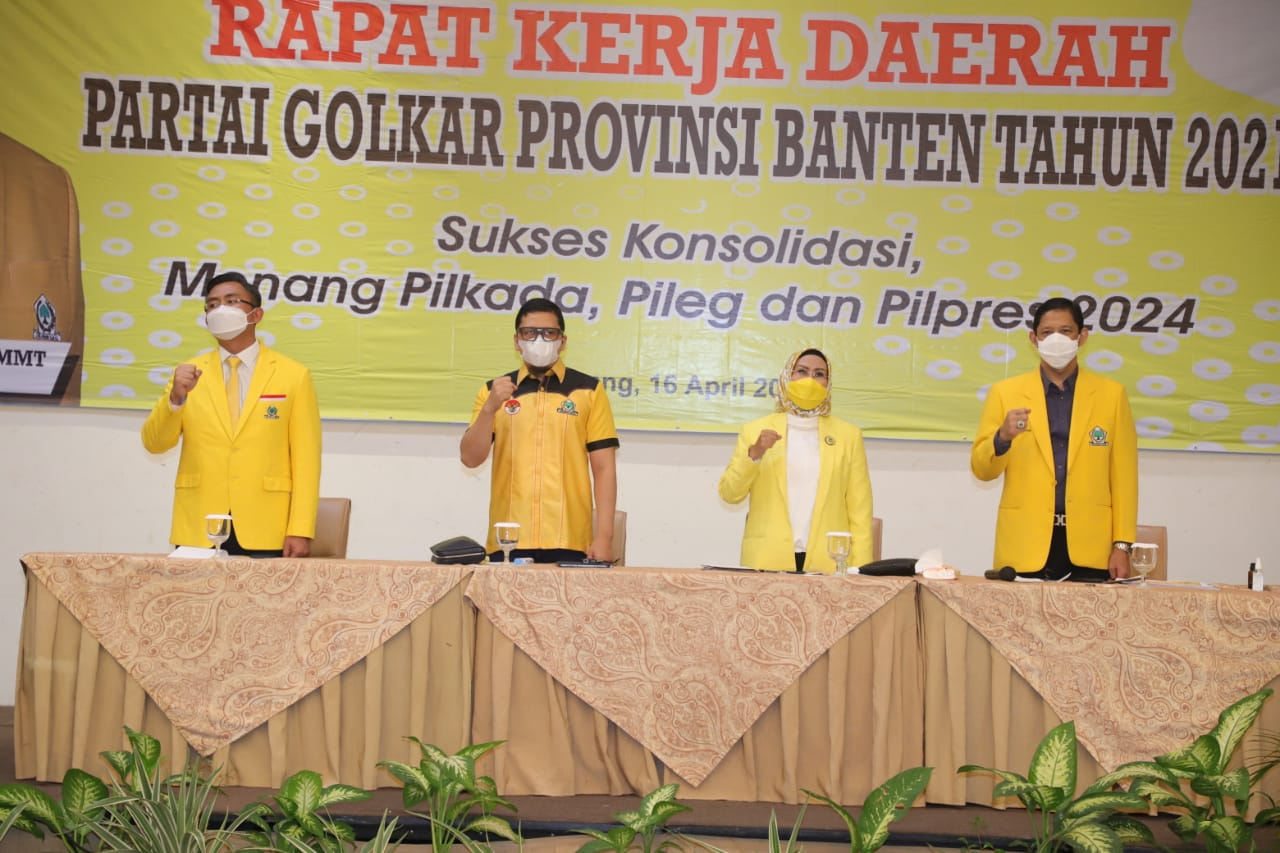 Golkar Banten Panaskan Mesin Politik untuk 2024; Airlangga Presiden, Andika Gubernur