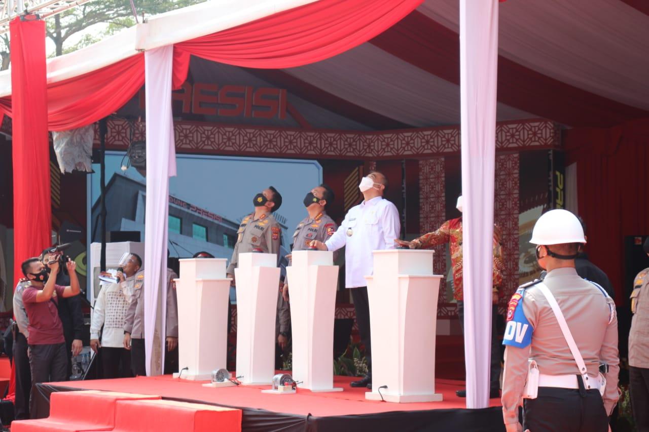 Yang Unik dari Gedung Presisi Polresta Tangerang; Angka Tiga dan Dua Jabatan Listyo Sigit Prabowo yang Berbeda