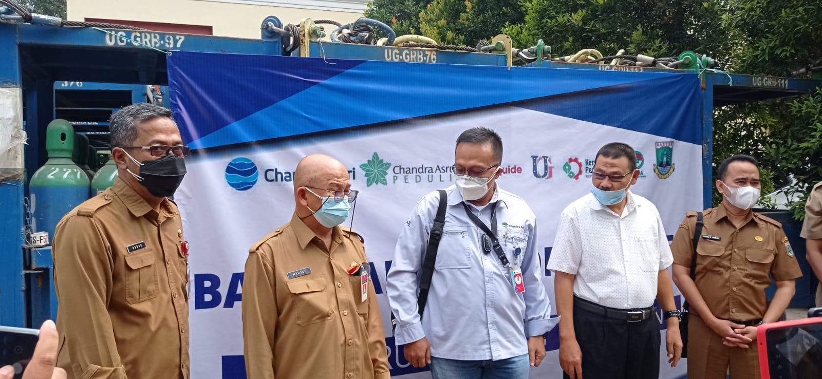 Pemprov Banten Terima Bantuan 120 Ton Oksigen dari PT. Chandra Asri untuk Rumah Sakit