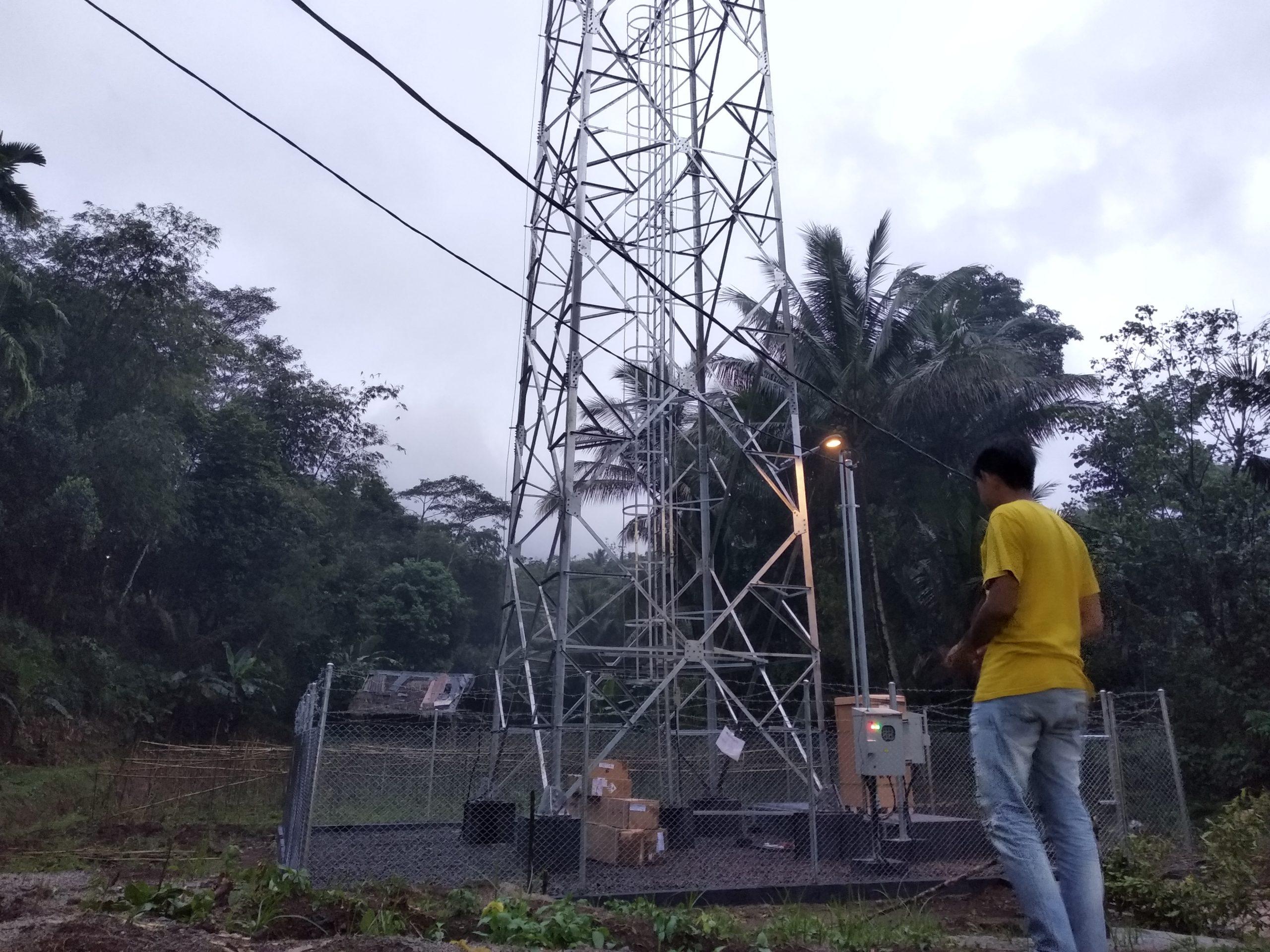 Tower BTS XL Milik PT Era Bangun Jaya di Desa Palembang Pandeglang Diduga Ilegal